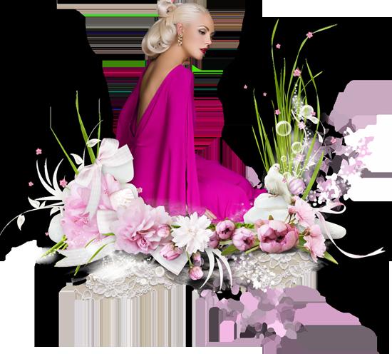 кластеры розовый гламур