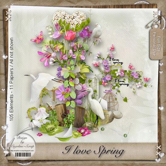 скрап-набор Я люблю весну