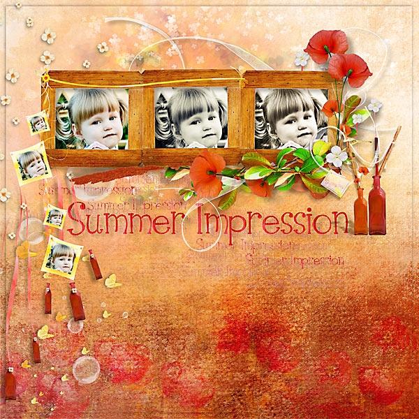 скрап-набор летнее впечатление