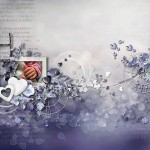 Скрап-набор Лиловая нежность моего сердца