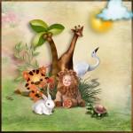 детский рисованный скрап-набор зоопарк