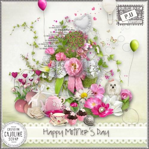 скрап-набор счастливый день матери