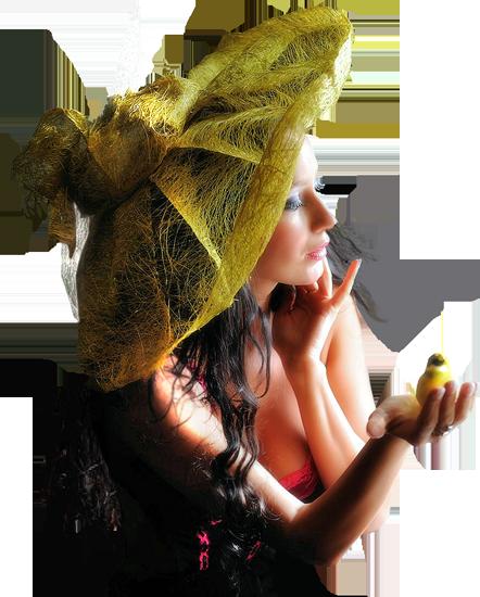 девушка с птицей