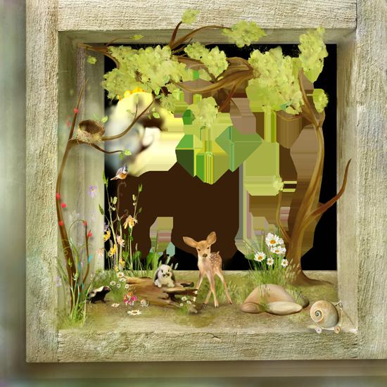детские лесные скрап-странички