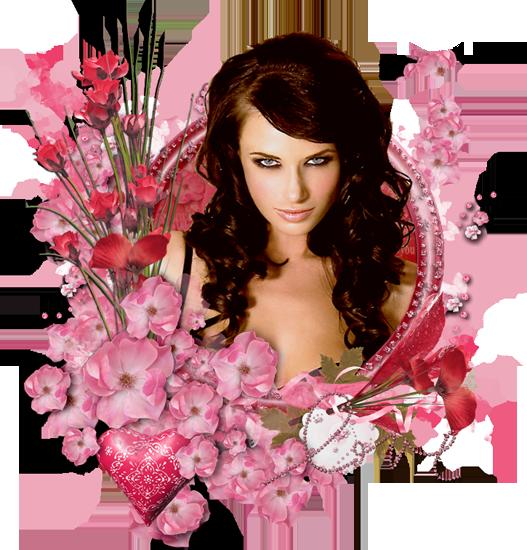 романтические цветочные эпиграфы для блога с девушками PNG