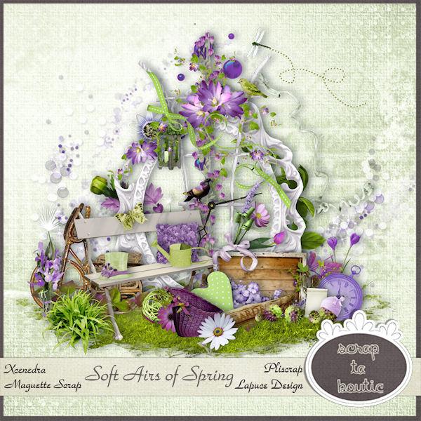 скрап-набор Запах весны