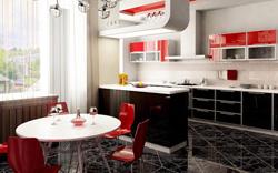 Красно-черная кухня