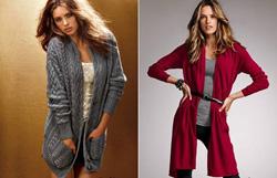 вязаные пальто 2014