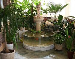Комнатные фонтаны в интерьере