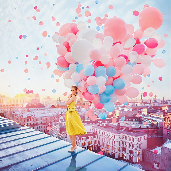 girl-balls-balloons-mood-home-hd-wallpaper-preview