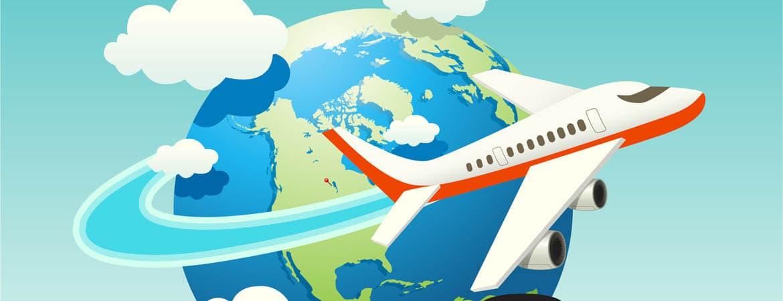 airplane-globe